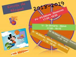 Escoles de Basquet  Sa Real 18-19